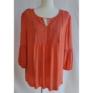 St. John's Bay Boho Long-sleeve blouse, Size L